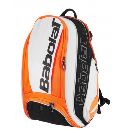 Babolat Pure Aero Backpack Bag - White/Orange