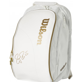 Wilson Federer DNA Backack Bag Wimbledon Limited Edition - White/Gold