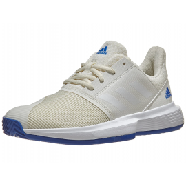 Adidas Court Jam xJ Junior Shoe - Off White/Blue