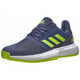 Adidas Court Jam xJ Junior Shoe - Blue/Green