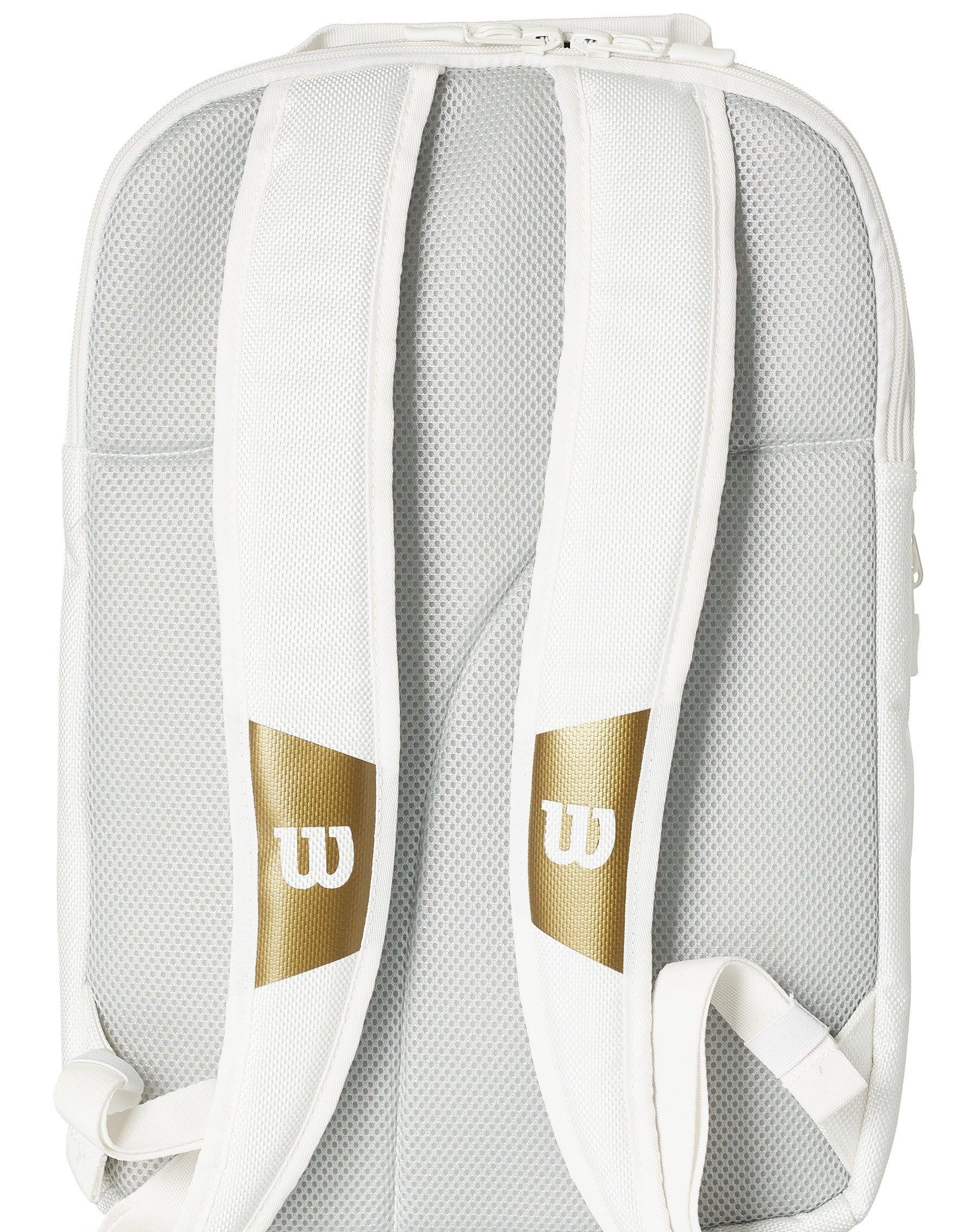 Wilson Federer DNA Backack Bag Wimbledon Limited Edition - White/Gold